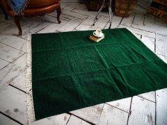 北欧デザイン ラグ『 アース 』グリーン深緑(サイズあり)