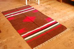 【クリアランスセール】手織りエスニックラグ舟と太陽  150×90