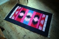 手織りエスニックラグ太陽と川  150×90
