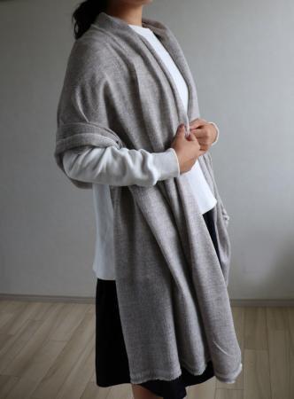 パシュミナ(カシミヤ) ストールE 薄手大判サイズ