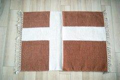 北欧デザイン ラグ『 クロス 』ブラウン
