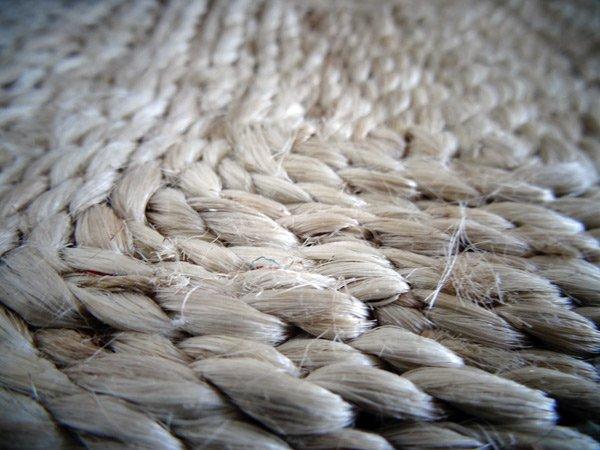 ジュート手編み玄関マット・バスマット