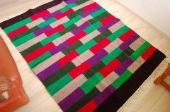 バングラデシュ手織りエスニックラグ  「橋」 150×120