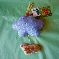 オリジナル・ハンギングオルゴール/雲と羊  cotolie yuka