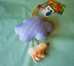 オリジナル・ハンギングオルゴール/雲と羊 B cotolie yuka