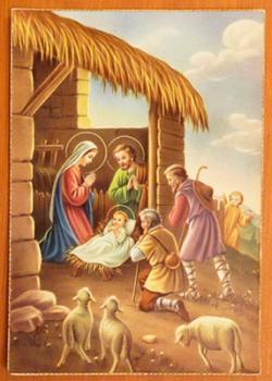 アンティーク クリスマスカード E