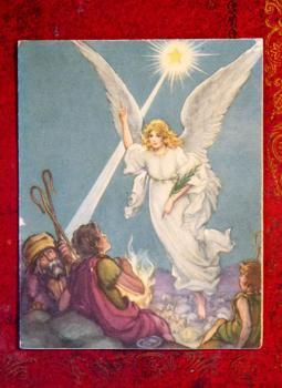 """アンティーク ポストカード """"Promise of Christmas"""""""