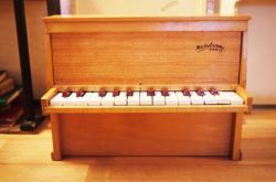 フランス アンティーク Michelsonne トイピアノ 木目 25key