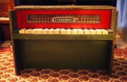 アンティーク シェーンハット トイピアノ グロッケンタイプ グリーン  toy piano