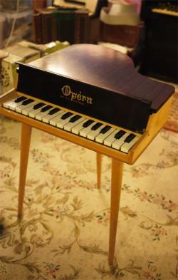 アンティークフランス オペラ グランド トイピアノ 30key  toy piano