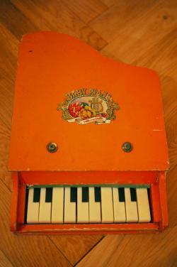 ヴィンテージ BABYPIANO オレンジ トイピアノ