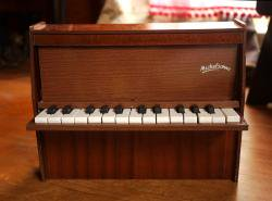 フランスアンティーク Michelsonne トイピアノ ダークブラウン