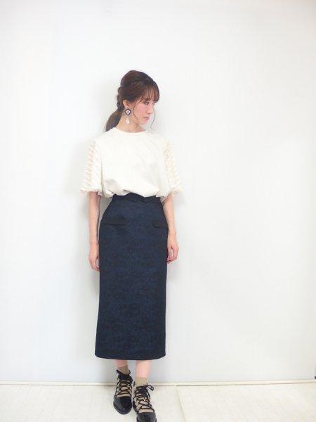 オーバーレースタイトスカート(ネイビー)