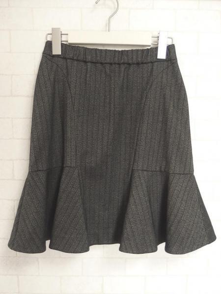 ピンストライプツイードスカート
