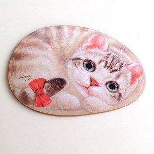 ヘンリーキャッツ(Henry Cats & Friends) シェイプド・コースター チェリー 2枚1組