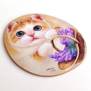 ヘンリーキャッツ(Henry Cats & Friends) シェイプド・コースター ミーゴ 2枚1組