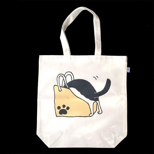 帆布トートバッグ 「紙袋と猫」