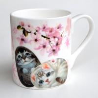 ヘンリーキャット(Henry Cats & Friends) ボーンチャイナマグカップ 桜