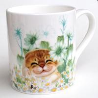 ヘンリーキャット(Henry Cats & Friends) ボーンチャイナマグカップ かくれんぼ