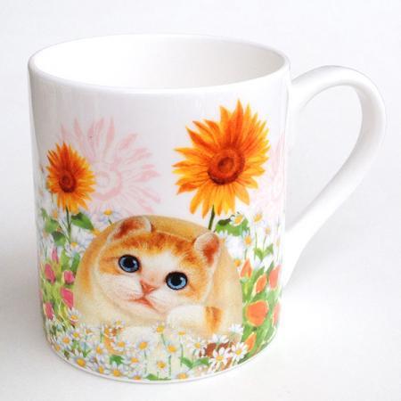 ヘンリーキャット(Henry Cats & Friends) ボーンチャイナマグカップ サニーガーデン