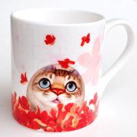 ヘンリーキャット(Henry Cats & Friends) ボーンチャイナマグカップ LOVE