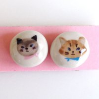Meow Meow プッシュピン 2個セット
