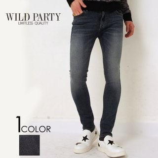 【WILD PARTY】Basicクロップドスキニーデニム/全1色/ワイルドパーティ
