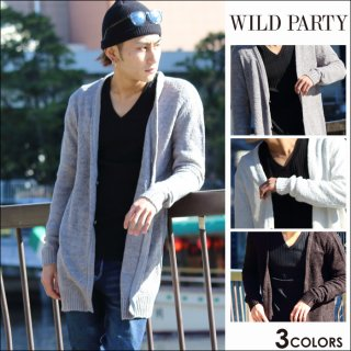 <img class='new_mark_img1' src='https://img.shop-pro.jp/img/new/icons20.gif' style='border:none;display:inline;margin:0px;padding:0px;width:auto;' />★50%OFF★WILD PARTY(ワイルドパーティー)シンプルカーディガン全3色