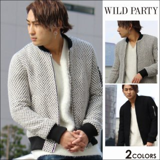 <img class='new_mark_img1' src='https://img.shop-pro.jp/img/new/icons20.gif' style='border:none;display:inline;margin:0px;padding:0px;width:auto;' />★50%OFF★WILD PARTY(ワイルドパーティー)ツイードMA-1全2色