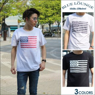 【BLUE LOUNGE】星条旗 プリント Tシャツ