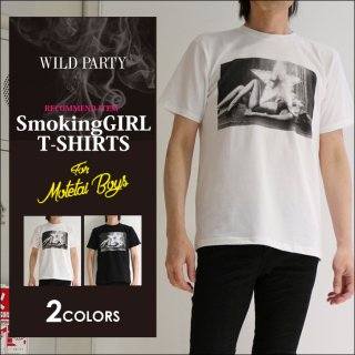 <img class='new_mark_img1' src='//img.shop-pro.jp/img/new/icons5.gif' style='border:none;display:inline;margin:0px;padding:0px;width:auto;' />【WILD PARTY】Smoking Girl Tシャツ / 全2色