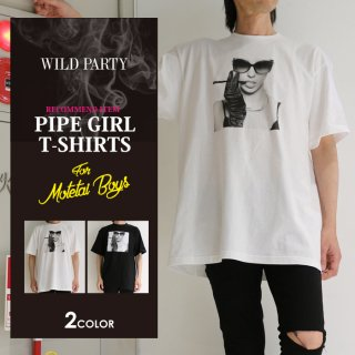 <img class='new_mark_img1' src='//img.shop-pro.jp/img/new/icons5.gif' style='border:none;display:inline;margin:0px;padding:0px;width:auto;' />【WILD PARTY】SPipe Girl BIG Tシャツ / 全2色