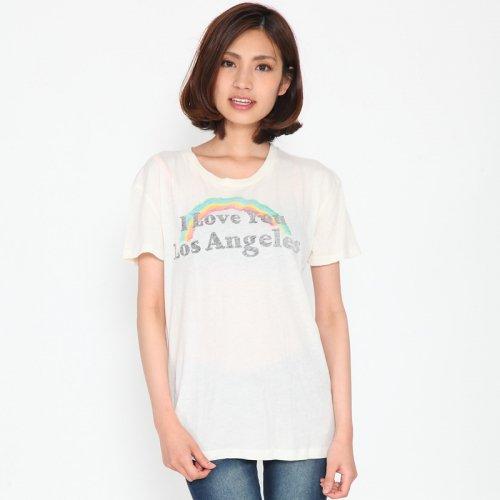 """I LONE YOU LOS ANGELS """"ベージュ"""" レディース Tシャツ"""