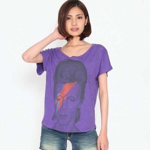 David Bowie デヴィッド・ボウイ ポートレート  レディース ロックTシャツ