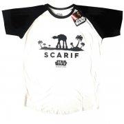 STAR WARS スター・ウォーズ ROGUE ONE ラグラン SCARIF Tシャツ
