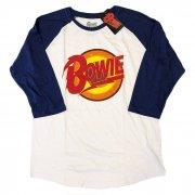 David Bowie デビッド・ボウイ Diamond Dog ロゴ ベースボール Tシャツ バンドT