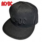 AC/DC 3D ロゴ SKAPBACK ベースボールキャップ ブラック