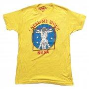 NASA 宇宙飛行士 I NEED MY SPACE イエロー Tシャツ