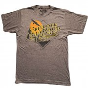 Creedence Clearwater Revival On The Run ブラウンヘザー Tシャツ バンドTシャツ