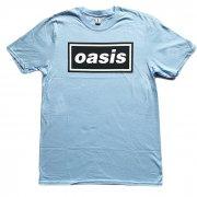 OASIS オアシス ロゴ ブルー Tシャツ
