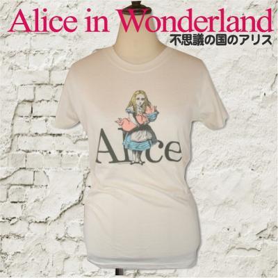 """不思議な国のアリス """"Alice"""" Tシャツ"""