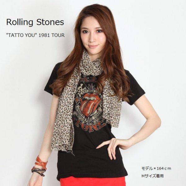 "The Rolling Stones(ローリング・ストーンズ) ""WORLD TOUR 1981 TATTO YOU"" レディースTシャツ"