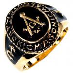FREE MASON/ フリーメイソン 指輪 ゴールド カレッジリング