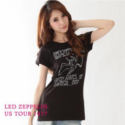 "Led Zeppelin ""US tour77"" Womens Tシャツ"