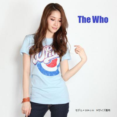 """The WHO """"MODS SAX BLUE"""" レディース T-SHIRTS"""