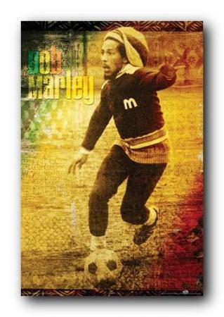 Bob Marley poster サッカー ポスター