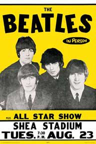 The Beatles LIVE イエローポスター