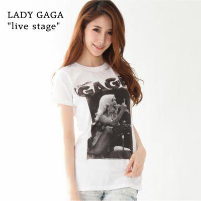 """【LADY GAGA / レディ・ガガ】""""LIVE STAGE"""" レディース Tシャツ"""