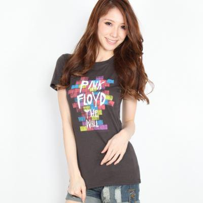 """PINK FLOYD """"THE WALL PAINT"""" レディース Tシャツ"""