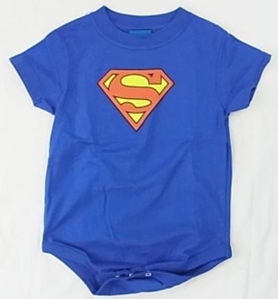 【SUPERMAN スーパーマン】 映画 ロゴ ロンパース
